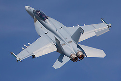 © Licensed to London News Pictures. 12/07/2014. RAF Fairford UK. A F-18 Hornet Performs at the Royal International Air Tattoo at RAF Fairford. Photo credit : Ian Schofield/LNP