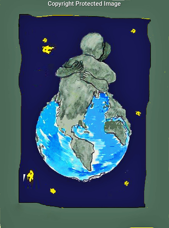 Peace On Earth 1994.  Reprint from 1994 watercolor painting.