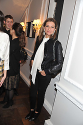 NATALIE MASSENET at a party to celebrate thelaunch of Alice Temperley's flagship store Temperley, Bruton Street, London on 6th December 2012.