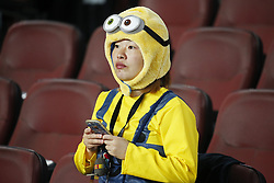 October 21, 2017 - Barcelona, Catalonia, Spain - FC Barcelona supporter during La Liga match between FC Barcelona v Malaga CF, in Barcelona, on October 21, 2017. (Credit Image: © Joan Valls/NurPhoto via ZUMA Press)