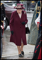 March 12, 2018 - London, London, United Kingdom - Image licensed to i-Images Picture Agency. 12/03/2018. London, United Kingdom. Queen Elizabeth II  arriving at the  Commonwealth Day Service at Westminster Abbey in London. (Credit Image: © Stephen Lock/i-Images via ZUMA Press)