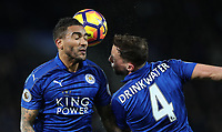 Football - 2016 / 2017 Premier League - Leicester City vs. Liverpool<br /> <br /> Danny Simpson and Danny Drinkwater of Leicester City during the match at The King Power Stadium.<br /> <br /> COLORSPORT/LYNNE CAMERON