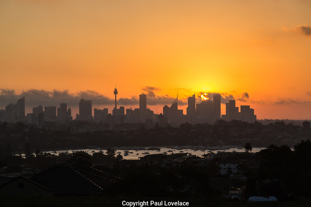 Sunset at Dudley Page Reserve, Dover Heights, Sydney. Great views from this park of the Sydney skyline at sunset.