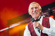 Sir Bruce Forsyth performs on the Avalon Stage. The 2013 Glastonbury Festival, Worthy Farm, Glastonbury. 30 June 2013. © Guy Bell, guy@gbphotos.com, all rights reserved