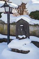 """Jizo in Snow - """"Jizo"""" images and statues are popular in Japan as Bodhisattva who console beings awaiting rebirth and travelers. These jizos in snow are at Saisho-in temple, in Hirosaki Aomori, Japan's winter heartland. Jizo are often found along roadsides, paths or even street corners."""
