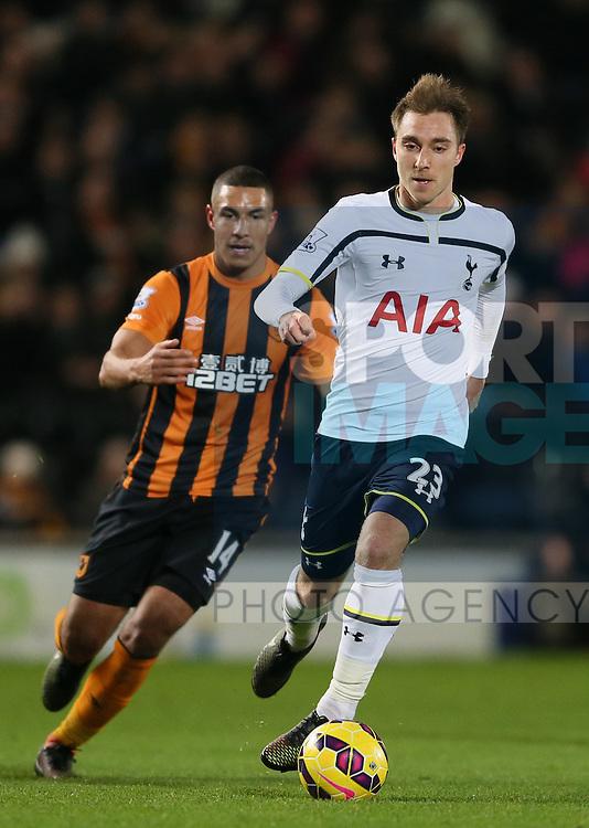 Christian Eriksen of Tottenham  - Barclays Premier League - Hull City vs Tottenham - Kingston Communications  Stadium - Hull - England - 23rd November 2014  - Picture Simon Bellis/Sportimage