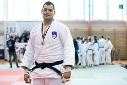 Vito Dragic with gold medal after Judo National Championships 2021 in Balon Hall, Nova Gorica, 20 March 2021, Slovenia. Photo by Grega Valancic / Sportida