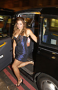 Louise Glover. Outside the GQ Style party. Harvey Nichols. Knightsbridge. 21 September 2005. ONE TIME USE ONLY - DO NOT ARCHIVE  © Copyright Photograph by Dafydd Jones 66 Stockwell Park Rd. London SW9 0DA Tel 020 7733 0108 www.dafjones.com