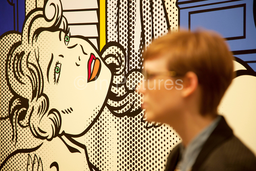 London, UK. Monday 18th February 2013. Lichtenstein: A Retrospective at  Tate Modern brings together 125 of artist Roy Lichtenstein's most definitive paintings and sculptures. Two Nudes (1995)