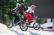 #372 (HENRY Leila) SUI during practice at Round 5 of the 2018 UCI BMX Superscross World Cup in Zolder, Belgium