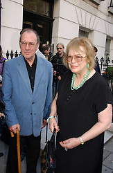 Playwright SIR HAROLD PINTER and his wife LADY ANTONIA FRASER at a private view of artist Damian Elwes work 'Artists Studios' held at Scream, 34 Bruton Street, London W1 on 29th June 2006.<br />