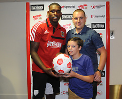 Man of the match presentations - Photo mandatory by-line: Dougie Allward/JMP - Tel: Mobile: 07966 386802 04/09/2013 - SPORT - FOOTBALL -  Ashton Gate - Bristol - Bristol City V Bristol Rovers - Johnstone Paint Trophy - First Round - Bristol Derby