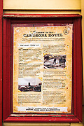 Historic sign at the Cardrona Hotel, Cardrona, Central Otago, South Island, New Zealand