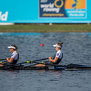 Olivia Loe and Brooke Donoghue New Zealand Womens Double Scull<br /> <br /> Semi-Finals races at the World Championships, Sarasota, Florida, USA Friday 29 September 2017. Copyright photo © Steve McArthur / www.photosport.nz
