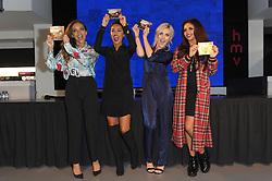 Little Mix during the signing of their latest CD, HMV, Oxford Street, London, United Kingdom. Monday, 11th November 2013. Picture by Chris Joseph / i-Images