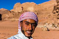 Bedouin Man, Arabian Desert, Wadi Rum, Jordan.