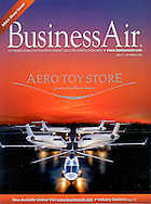 Magazine Cover - Business Air 4 jets and a helicopter