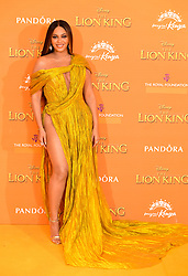 Beyonce attending Disney's The Lion King European Premiere held in Leicester Square, London.