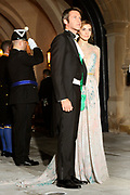 Gala dinner on the occasion of the civil wedding of Grand Duke Guillaume and Princess Stephanie at the Grand-Ducal palace in Luxembourg <br /> <br /> On the photo: Prinz Emmanuel Filiberto von Savoy und Ehefrau Prinzess in Clotilde Courau