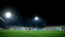 General view of the match action during the UEFA Nations League match at Stadion HNK Rijeka in Croatia.