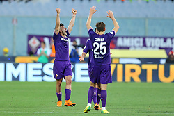 April 29, 2018 - Florence, Italy - Giovanni Simeone of Fiorentina celebrates with the teammates during the Serie A match between ACF Fiorentina and SSC Napoli at Stadio Artemio Franchi on April 29, 2018 in Florence, Italy. (Credit Image: © Matteo Ciambelli/NurPhoto via ZUMA Press)