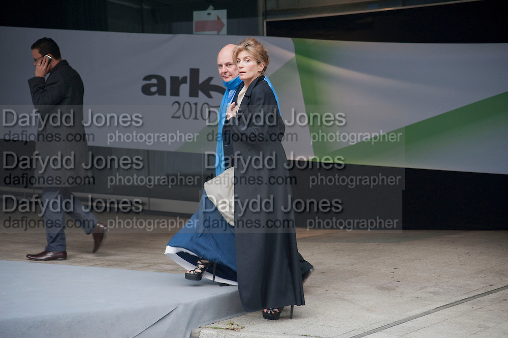 ROLF SACHS; MARYAM SACHS, Ark- Absolute Return for Kids. Fundraiser at Waterloo Euroster terminal. London. 13 May 2010. -DO NOT ARCHIVE-© Copyright Photograph by Dafydd Jones. 248 Clapham Rd. London SW9 0PZ. Tel 0207 820 0771. www.dafjones.com.