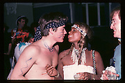 Jamie Hayward and Linda Thorne at Piers Gaveston Ball. Oxford Town Hall. 1981 approx© Copyright Photograph by Dafydd Jones 66 Stockwell Park Rd. London SW9 0DA Tel 020 7733 0108 www.dafjones.com
