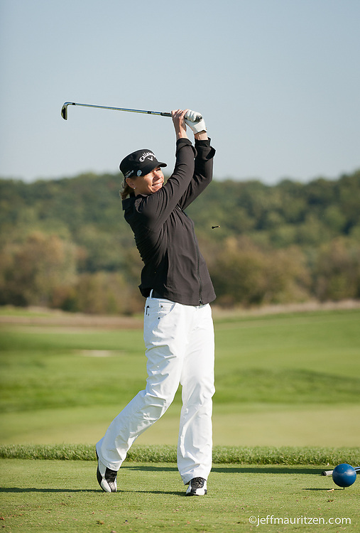 Photo of Annika Sorenstam golfing at a northern Virginia golf tournament in 2013.