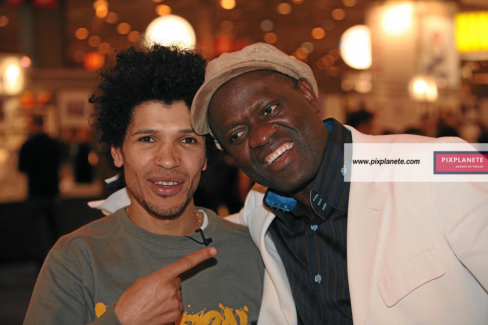 Rachid Djaïdani et Alain Mabanckou - Salon du livre 2007 à Paris - Le 23/03/2007 - JSB / PixPlanete