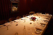 Dining table set for guests. The Oviedo Restaurant, Buenos Aires Argentina, South America