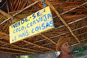 Lagoa do Satu_BA, Brasil...Praia Lagoa do Satu, Bahia. Na foto Seu Satu, antigo morador da vila...The Lagoa do Satu beach, Bahia. In this photo Seu Satu, He lives in the village...Foto: LEO DRUMOND / NITRO