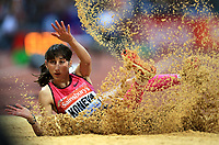 Friidrett<br /> IAAF Diamond League<br /> 26.07.2013<br /> Foto: imago/Digitalsport<br /> NORWAY ONLY<br /> <br /> Yekaterina Koneva of Russland competes in the women s triple jump event at the London Diamond League Anniversary Games athletics meeting at the Olympic Stadium in London, Britain, on July 26, 2013. Yekaterina Koneva claimed the title with 14.52 meters