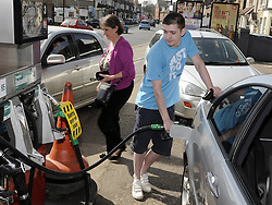 © Licensed to London News Pictures. 29/03/2012.Petrol panic buying continuing today (29.03.2012) Texaco Petrol station in Orpington,South London..Photo credit : Grant Falvey/LNP