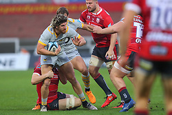 Michael Le Bourgeois of Wasps is tackled -  Mandatory by-line: Nick Browning/JMP - 28/11/2020 - RUGBY - Kingsholm - Gloucester, England - Gloucester Rugby v Wasps - Gallagher Premiership Rugby