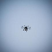 Manifestazione del Movimento 5 Stelle in Piazza Duomo a Milano. Il drone utilizzato per le foto aeree della piazza
