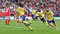 Photo: Paul Thomas.<br /> Barnsley v Southampton. Coca Cola Championship. 19/08/2006.<br /> <br /> Grzegorz Rasiak (L) celebrates his goal for Southampton.