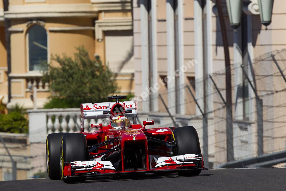Fernando Alonso (Ferrari) during practice before the 2013 Monaco Grand Prix. Photo: Grand Prix Photo