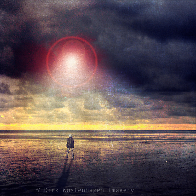 Surreal atmosphere and strange light in the sky.<br /> composing & manipulation