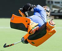BRUSSEL (Belgie) - Training Nederlands team dames voor de Hockey World League wedstrijd tegen Korea. keeper Anne Veenendaal (Ned) . COPYRIGHT KOEN SUYK