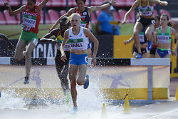 July 10, 2018 - Tampere, Suomi Finland - 180710 Friidrott, Junior-VM, Dag 1: Astrid SnÅ ll competes in women's 3000 meters steeplechase during the IAAF World U20 Championships day 1 at the Ratina stadion 10. July 2018 in Tampere, Finland. (Newspix24/Kalle Parkkinen) (Credit Image: © Kalle Parkkinen/Bildbyran via ZUMA Press)