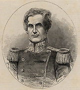 Edmund Lyons, 1st Baron Lyons, (1790-1858) British naval officer born at Burton near Christchurch, Hampshire. Entered the Royal Navy in 1803. Commander of British Black Sea fleet from 1855 during Crimean (Russo-Turkish) War 1853-1856. Commander-in-Chief of the British Mediterranean fleet 1855-1858. Rear-Admiral 1850. From 'The Illustrated London News' (London, 8 July 1854).