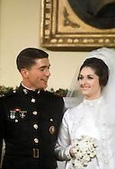 Lynda Bird and Chuck  Robb at the wedding of Lynda Bird to Chuck Robb in December 1967