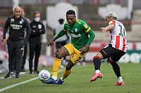 Preston North End's Darnell Fisher competing with Brentford's Said Benrahma (right) <br /> <br /> Photographer Andrew Kearns/CameraSport<br /> <br /> The EFL Sky Bet Championship - Brentford v Preston North End - Wednesday 15th July 2020 - Griffin Park - Brentford <br /> <br /> World Copyright © 2020 CameraSport. All rights reserved. 43 Linden Ave. Countesthorpe. Leicester. England. LE8 5PG - Tel: +44 (0) 116 277 4147 - admin@camerasport.com - www.camerasport.com