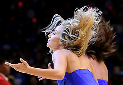 October 21, 2017 - Los Angeles, California, U.S. - Los Angeles Clippers cheerleaders perform during a NBA basketball game between the Phoenix Suns and the Los Angeles Clippers at the Staples Center on Saturday, Oct 21, 2017 in Los Angeles. .(Photo by Keith Birmingham, Pasadena Star-News/SCNG) (Credit Image: © San Gabriel Valley Tribune via ZUMA Wire)