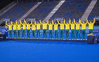 TOKIO -  Ceremony, Australie met zilver,  na  de hockey finale mannen, Australie-Belgie (1-1), België wint shoot outs en is Olympisch Kampioen,  in het Oi HockeyStadion,   tijdens de Olympische Spelen van Tokio 2020.   COPYRIGHT KOEN SUYK