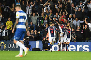 GOAL West Bromwich Albion forward Karlan Grant (18) scores a goal and celebrates  2-1 during the EFL Sky Bet Championship match between West Bromwich Albion and Queens Park Rangers at The Hawthorns, West Bromwich, England on 24 September 2021.