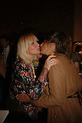 VIRGINIA BATES AND TRACEY EMIN, Champagne reception celebrating 100 years of Chinese cinema  hosted by Hamish McAlpine of Tartan Films, Raising money for Care For Children, a foster care programme in China. Aspreys. New Bond St. London. 25 April 2006. ONE TIME USE ONLY - DO NOT ARCHIVE  © Copyright Photograph by Dafydd Jones 66 Stockwell Park Rd. London SW9 0DA Tel 020 7733 0108 www.dafjones.com