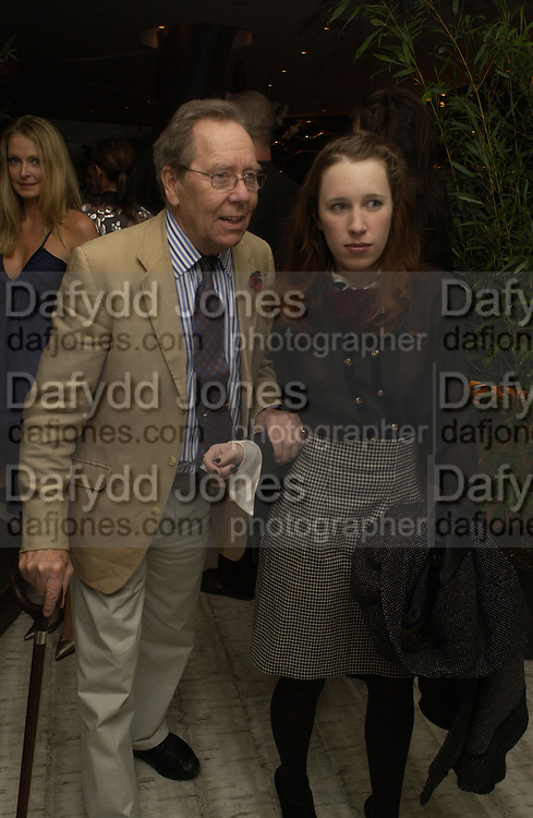 LORD SNOWDON AND LADY FRANCES ARMSTRONG-JONES. The Vogue Winter party to celebrate the Vogue List. Nobu Berkeley. London.   8 November 2005 . ONE TIME USE ONLY - DO NOT ARCHIVE © Copyright Photograph by Dafydd Jones 66 Stockwell Park Rd. London SW9 0DA Tel 020 7733 0108 www.dafjones.com