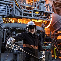 Electric Arc Furnace and Steel worker at Liberty Steel Rotherham