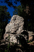Megalithic site, near the torrent de Diablera, on the mountain of Montserrat, near Barcelona, Catalonia, Spain